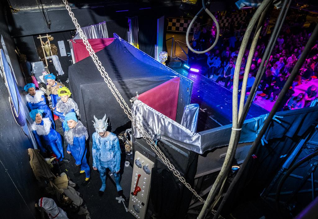 Das VPT hinter der Bühne. Foto: Norman Tebel